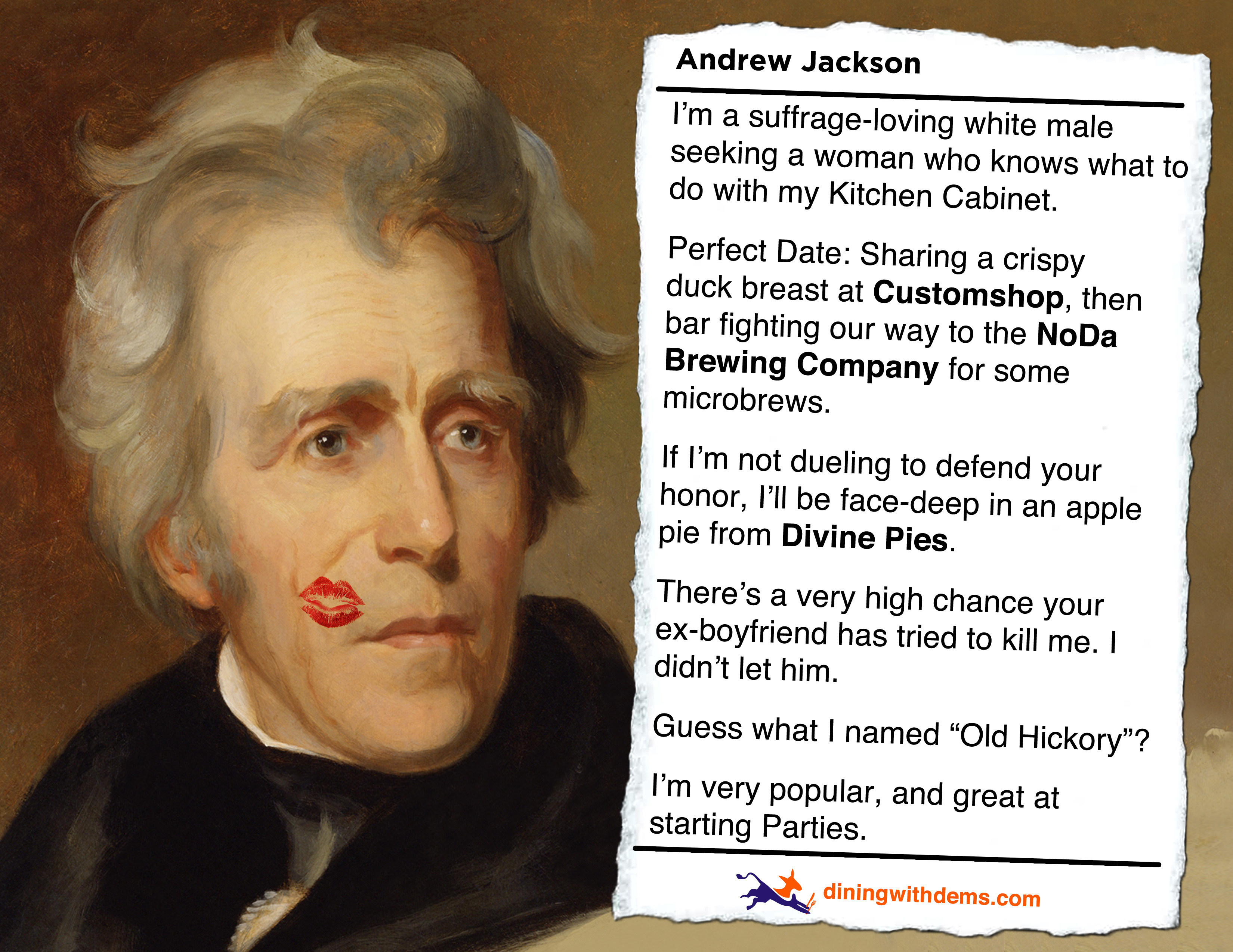 andrew jackson great president Andrew jackson's term as president great britain indeed went to war with america, burning the capitol and making andrew jackson a hero at new orleans.